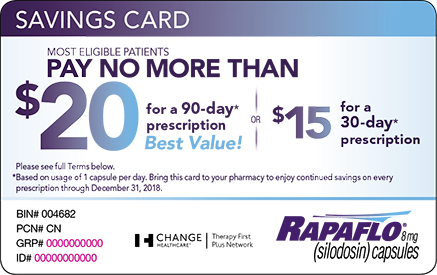 Rapaflo Savings Card